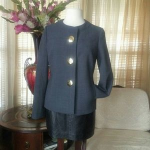 Tory burch grey jacket with oversized buttons